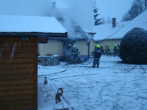23.01.2019 Brandeinsatz Hofstetten-Grünau – Kammerhof